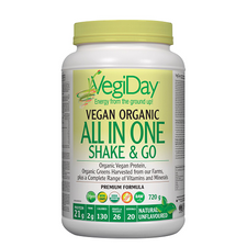 VegiDay Vegan Organic All in One Shake - Unflavoured 720g | 628235330381