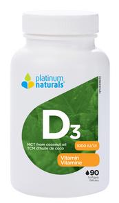 Platinum Naturals Vitamin D3 1000IU 90 Softgels | 773726031398