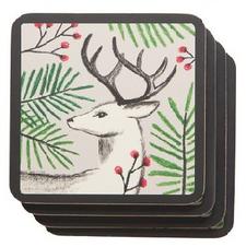 Now Designs Coasters Set of 4 Noble Deer | 064180259993