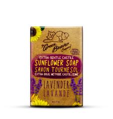 Green Beaver Extra Gentle Castile Sunflower Bar 90 grams Lavender   834639009710
