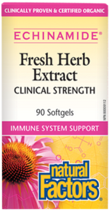 Natural Factors Echinamide Anti-Cold Fresh Herb Extract Clinical Strength 90 Softgels | 068958045245