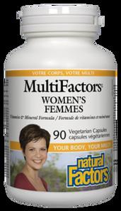 Natural Factors Women's MultiFactors Vegetarian Capsules   068958015859