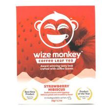 Wize Monkey Coffee Leaf Tea Strawberry Hibiscus   628250387070
