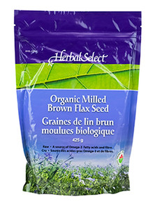Herbal Select Organic Milled Brown Flax Seed | 065279021392