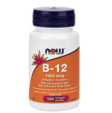 Now Foods Chewable B-12 1000mcg with Folic Acid   733739804662