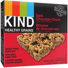 Kind Snacks Healthy Grains Dark Chocolate Chunk Bar 5 x 35g  602652184178
