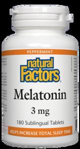 Natural Factors Melatonin 3mg Peppermint | 068958027166