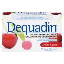 Dequadin Medicated Throat Cherry Lozenges | 0664985010074