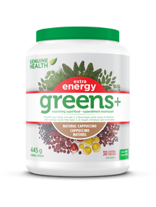 Genuine Health Greens+ Extra Energy 445 g Natural Cappuccino | 624777002557