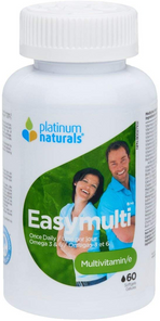 Platinum Naturals Easymulti - Once Daily Multivitamin 60 Softgels | 773726030186
