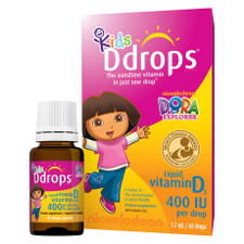 Ddrops Kids Liquid Vitamin D3 400 IU 60 Drops | 0851228000125