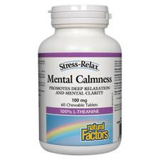 Natural Factors Stress-Relax Mental Calmness 100mg 60 Chewable Tablets | 068958028323