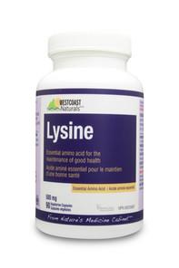 Westcoast Naturals Lysine 500 Mg | 626908302628