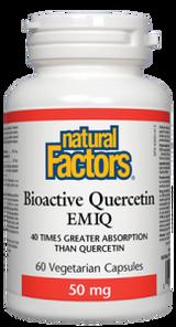 Natural Factors Bioactive Quercetin EMIQ 50mg Vegetarian Capsules   068958013817