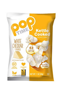 Pop Time White Cheddar Kettle Cooked Popcorn | 857220006455