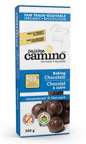 Camino Organic 100% CACAO Unsweetened Baking Chocolate 200g | 752612230015