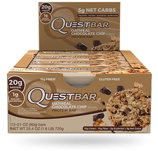 Quest Protein Bar Oatmeal Chocolate Chip | 888849004911