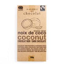 Galerie au Chocolat Organic Coconut Dark Chocolate Bar 100g