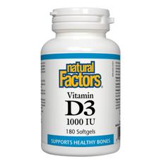 Natural Factors Vitamin D3 1000 IU  180 Softgels | 068958010540