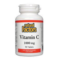 Natural Factors Vitamin C 1000mg Plus Bioflavonoids and Rosehips | 068958013442