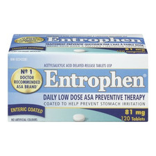 Entrophen Daily Low Dose 81mg ASA Preventative Therapy 120 Tablets | 625972011313