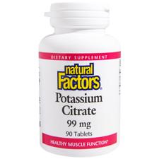 Natural Factors Potassium Citrate 99mg Tablets | 068958016603