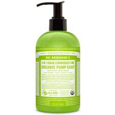 Dr. Bronner's 4-in-1 Sugar Lemongrass Lime Organic Pump Soap 355 ml | 018787950050