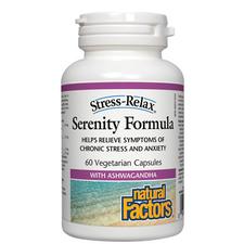 Natural Factors Stress-Relax Serenity Formula 60 Vegetarian Capsules | 068958028347