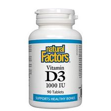 Natural Factors Vitamin D3 1000 IU Tablets | 068958010502