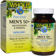 Natural Factors Whole Earth and Sea Men's 50+ Multivitamin and Mineral 60 Tablets | 068958355030