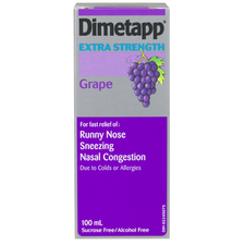 Dimetapp Cold Extra Strength Liquid Grape | 0062107231008