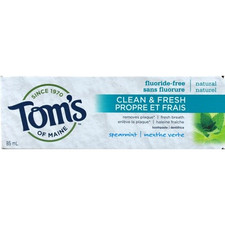 Tom's of Maine Clean and Fresh Fluoride-Free Toothpaste Spearmint 85 ml | 077326101407
