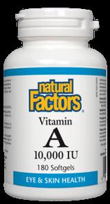 Natural Factors Vitamin A 10,000 IU Softgels   068958010410