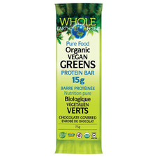 Natural Factors Whole Earth and Sea Organic Vegan Greens Protein Bar 15g | 068958355061