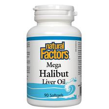 Natural Factors Mega Halibut Liver Oil Softgels | 068958010106