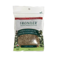 Frontier Natural Products Organic Oregano Leaf Flakes 10g   UPC:089836210371