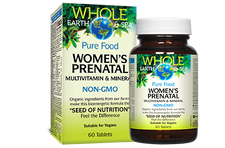 Natural Factors Whole Earth and Sea Women's Prenatal Multivitamin and Mineral 60 Tablets   068958355177