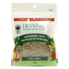 Frontier Natural Products Organic Rosemary Leaf Whole 13g | UPC: 089836210425