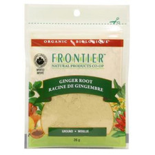 Frontier Natural Products Organic Ginger Root Ground 26g | UPC: 089836210319