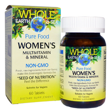 Natural Factors Whole Earth and Sea Women's Multivitamin and Mineral 60 tablets   068958355023