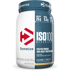 Dymatize Nutrition ISO 100 Hydrolyzed Whey Protein Isolate Gourmet Vanilla