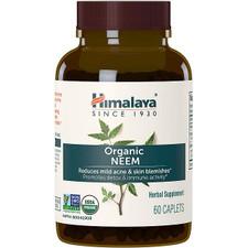 Himalaya Herbal Healthcare Organic Neem 60 Caplets | 1770-1924 | 605069065054