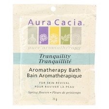 Aura Cacia Tranquility Mineral Bath Box 71g  - Case of 6   051381285197