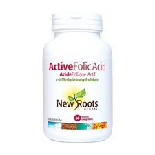 New Roots Herbal Active Folic Acid L-5-Methyltetrahydrofolate 60 Tablets | 628747119009