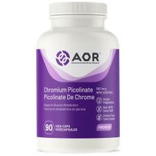 AOR Chromium Picolinate 600mcg 90 Vegi-Caps    624917040906