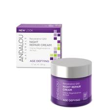 Andalou Naturals Age Defying Resveratrol Q10 Night Repair Cream | 859975002317