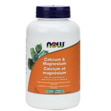Now Foods Calcium & Magnesium with Vitamin D and Zinc 120 softgels   733739812513