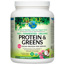 Natural Factors Whole Earth and Sea Fermented Organic Protein and Greens Tropical 660 grams | 068958355238