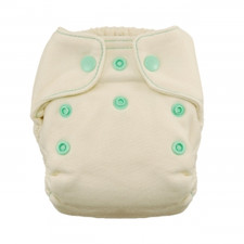 Thirsties Natural Newborn Fitted Snap Diaper Moss 5 to 14 lbs | 816905020179