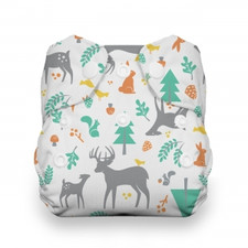 Thirsties Natural Newborn All In One Snap Diaper Woodland 5 to 14 lbs | 816905020407